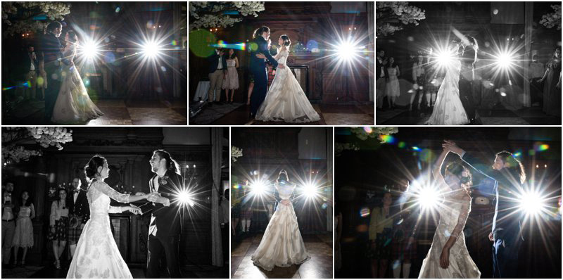 bride and groom do their first dance as man and wife